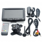"7"" TFT LCD Monitor Digital DVB-T TV Receiver with Remote Controller - Black"