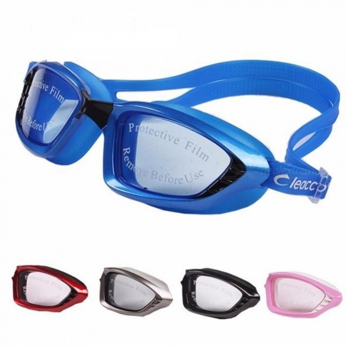 5 Colors Men Women Professional Electroplate Waterproof Swim Glasses Anti Fog UV Protection Swimming Goggles