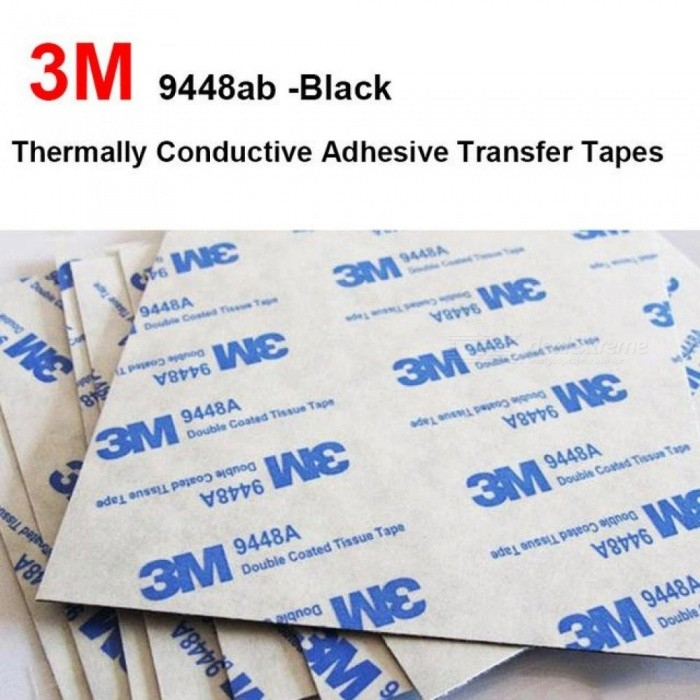 50pcs 3M 8.8x8.8x0.15mm Double side Coated Tissue Tape Thermally Conductive Adhesive thermal pad for heat sink heatsink radiator