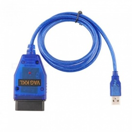 VAG-COM 409.1 Vag Com 409.1 KKL OBD2 USB Cable Scanner Scan Tool Interface For Audi VW SEAT Volkswagen Blue
