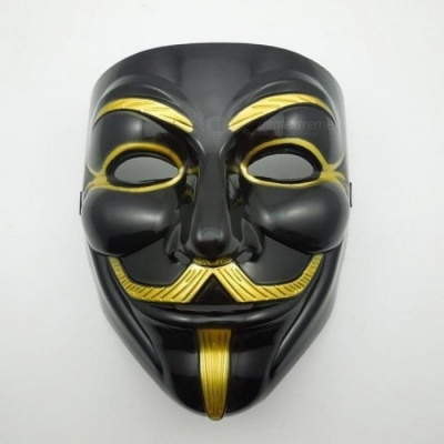 The Black V for Vendetta Party Cosplay masque Mask Anonymous Guy Fawke New Fancy Costume Accessory macka mascaras halloween 1064 Black