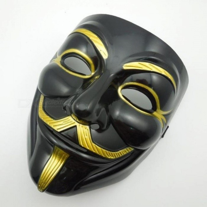Black V For Vendetta Party Cosplay Masque Mask Anonymous Guy Fawkes New  Fancy Costume Accessory Macka 16c31ef40d5a7