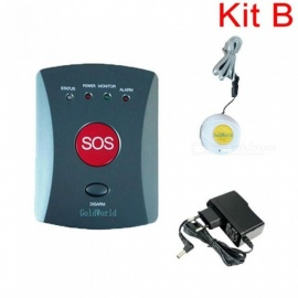Neck House GSM SMS SOS Emergency Auto Dialer Alarm System with Panic Button for Elder Care Two Type Available White
