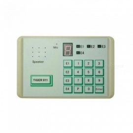 1PCS Tiger 911 Auto telephone Dialer Alarm system Accessories Calling Transfer Tool Fixed Terminal Put in NC NO or voltage White