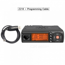 Mini Car Walkie Talkie 10KM 25W Dual Band VHF/UHF 136-174mhz 400-470mhz 128CH Mini Mobile Radio Station Transceiver z218