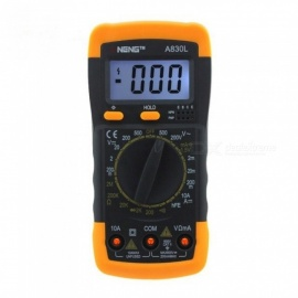 Digital multimeter LCD Digital Multimeter DC AC Voltage Diode Frequency Multi Tester  Yellow Color Available Yellow