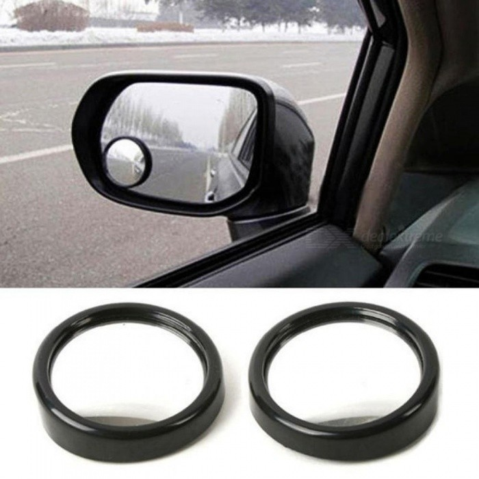 360 Wide Angle Auto Side Round Convex Mirror Car Vehicle Blind Spot Dead Zone Rear