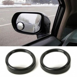 360 Wide Angle Auto Side Round Convex Mirror Car Vehicle Blind Spot Dead Zone Mirror Rear View Mirror Small Round Mirror 1 Pair  1 Pair