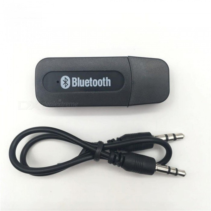 Bluetooth Receiver A2DP Dongle Music Audio Receiver Wireless USB Adapter for Car AUX Android/IOS Mobile Phone 3.5mm