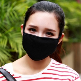 Fashion Cotton Yarn Mouth Face Mask Cycling Wearing Windproof Anti Dust Anti-pollution Respirator Black  Black