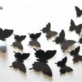 12 Pcs/Lot PVC 3D DIY Butterfly Wall Stickers Home Decor Poster for Kitchen Bathroom Fridge Adhesive to Wall Decals Decoration fruit green