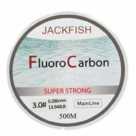 Fluorocarbon Fishing Line  5-32LB Test Carbon Fiber Leader Line 0.165-0.46mm Fly Fishing Line 500 Meter  Mainline/6.0/Clear