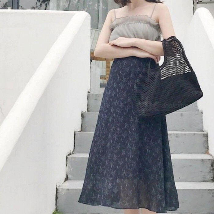 Fashion Hollow Mesh Design Women Handbag Holiday Tote Lady Beach Bags Net  Simple Shopping Baby Party 87d8a4a03abee