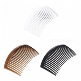 5PCS Each Sets Handmade Comb 23 Tooth Plastic Material Headwear Hair Accessories Suitable For Women DIY Clips White
