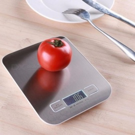 Digital Scales 5Kg x 1g Food Diet Postal Scales balance Measuring weight Slim LED Electronic Household Scales Silver