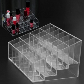 24 Grid Acrylic Makeup Organizer Storage Box Cosmetic Box Lipstick Jewelry Box Case Holder Display Stand Make Up Organizer 24 Grid