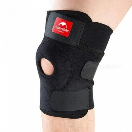 Adjustable Elastic Knee Support Brace Knee Pad Patella Knee Pads Hole Sports Kneepad Safety Guard Strap For Running Black