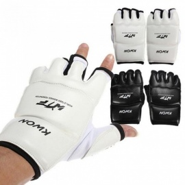 Half Fingers Kids And Adults Sandbag Training Boxing Gloves Sanda/Karate/Muay Thai/Taekwondo Protector XS/White