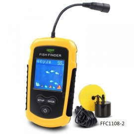 Portable Fishing Alarm With Sonar LCD Fish Finders Fishing Lure Echo Sounder Fishing Finder 100M Range FFC1108-2