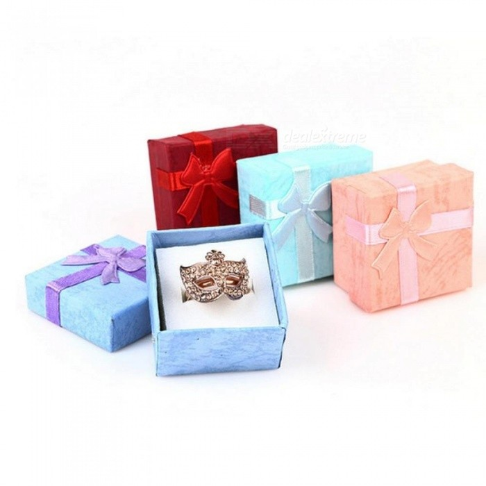 4 4cm Size Jewelry Organizer Box Rings Storage Box Small Gift Box For Rings Earrings 4 Colors 1pcs Package Blue
