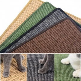 Natural Sisal Cat Scratch Board Lounger Scratching Post Mat Toy for Tower Climbing Tree Pad Cooling Furniture Pet Product 30cm x 40cm/Random Color