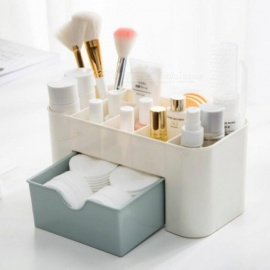 PP Plastic Cosmetic Storage Box Multifunction Desktop Storage Boxes Drawer Makeup Organizers Stationery Storage Organizer 1PCS Light Green