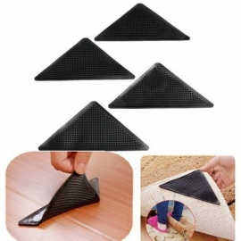 Reusable Washable Rug Carpet Mat Grippers Non Slip Silicone Grip For Home Bath Living Room 4 Pieces Per Set  4pcs