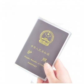 Transparent Passport Holder Card Holder PVC Waterproof Travel Passport Cover Passport Case Size 13.1*18.5 Transparent