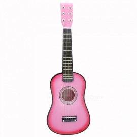 Mini 23 Inch Basswood Acoustic 12 Fret 6 String Guitar with Pick and Strings for Children / Beginners 34 inches/Blue