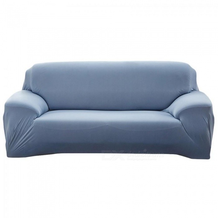 Sofa Covers For Living Room Modern Sofa Cover Elastic Polyester Sofa Towel  Furniture Protector Polyester Love seat Couch Cover 2 Seater/Grey Blue