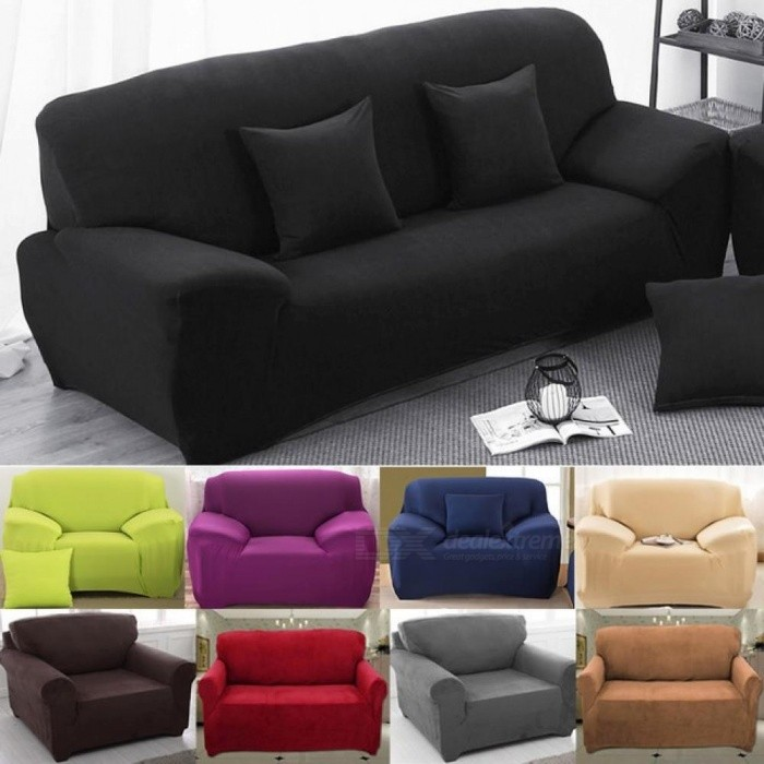 Sofa Covers For Living Room Modern Cover Elastic Polyester Towel Furniture Protector Love Seat Couch 1 Seater Beige