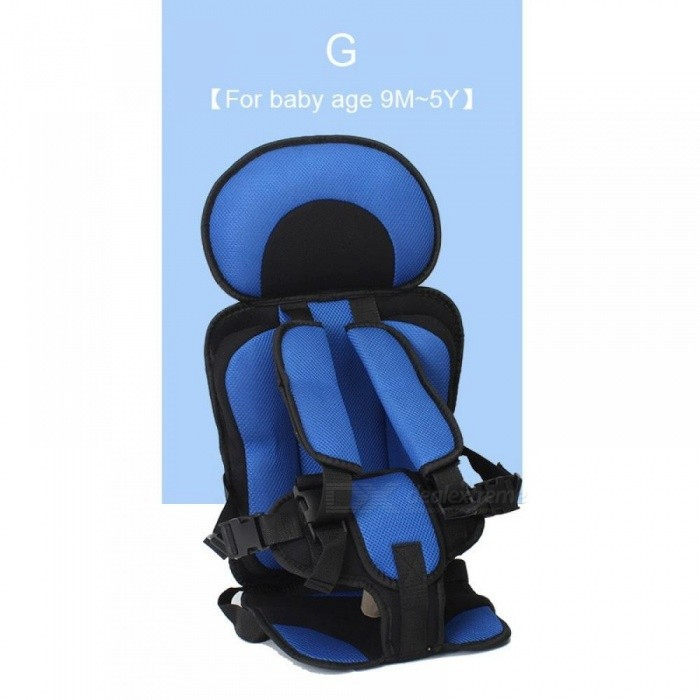 Adjustable Baby Safe Seat For 6 Months 5 Years Old Toddler Booster Child Safety Mat Portable Chair Seats Blue