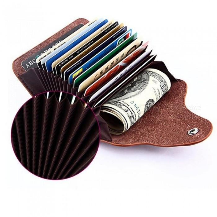 Leather unisex business card holder wallet men and women bank credit leather unisex business card holder wallet men and women bank credit card case id holders female purse rose reheart Gallery