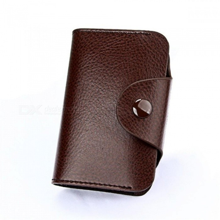 Leather Unisex Business Card Holder Wallet Men And Women Bank Credit Card Case ID Holders Female Purse