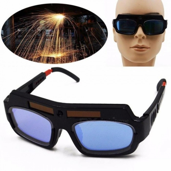 Solar Powered Auto Darkening Welding Mask Helmet Goggle Welder Glasses Arc PC Lens Great Goggles For Welding Protection