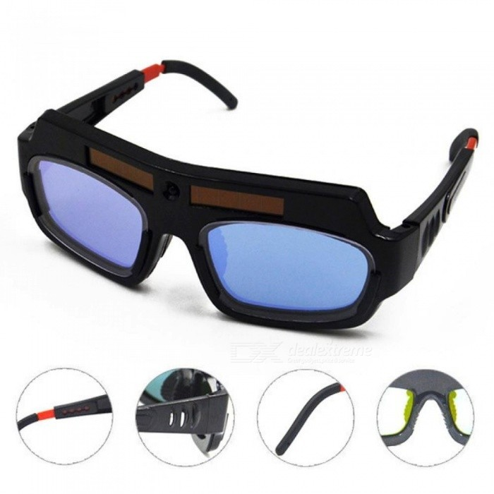2e28b031 Solar Powered Auto Darkening Welding Mask Helmet Goggle Welder Glasses Arc  PC Lens Great Goggles For