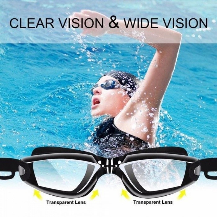 1b9abb9bd661 Professional Silicone Swimming Goggles HD Anti-fog UV With Earplugs Nose  Clips Caps And Box