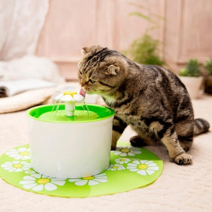 Automatic Cat Water Fountain 1.6L Electric Water Fountain Dog Cat Pet Drinker Bowl Pet Cat
