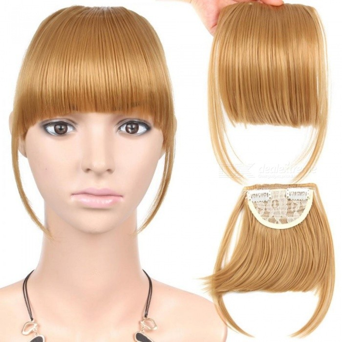 Black Brown Blonde Fake Fringe Clip In Bangs Hair Extensions With