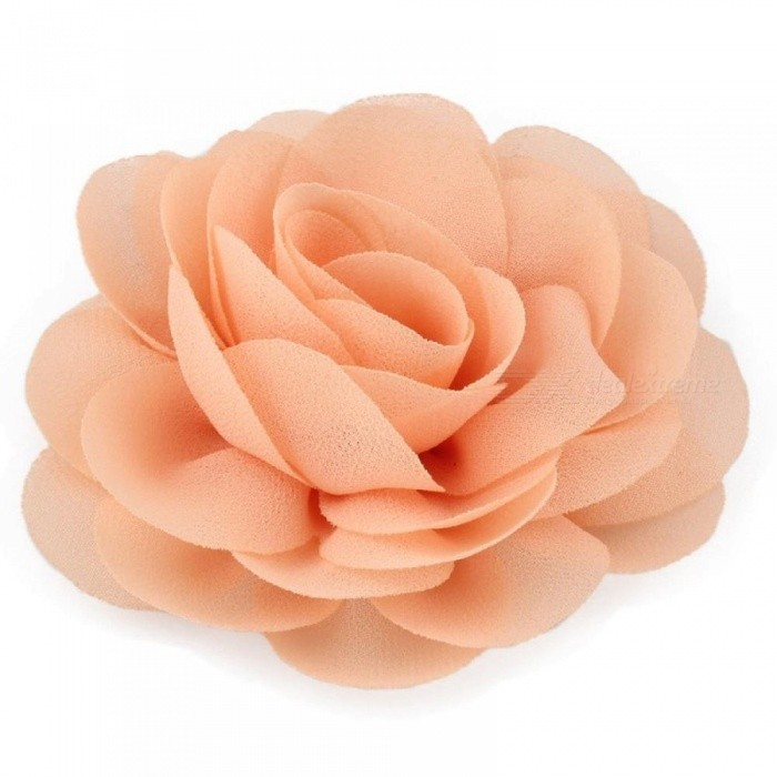 8.5cm Newborn Chiffon Petals Poppy Flower Hair Clips Rolled Rose Fabric Hair Flowers For Kids Girls Hair Accessories