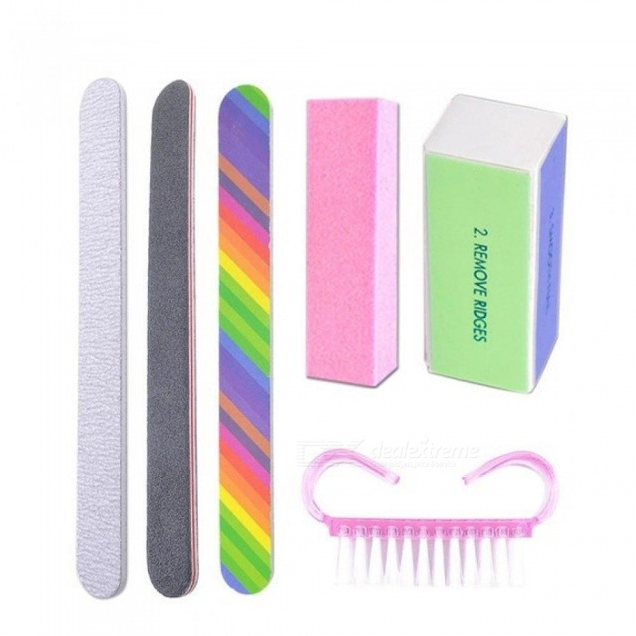 Nail Manicure Kit Nail Files Brush Durable Buffing Grit Sand For Art ...