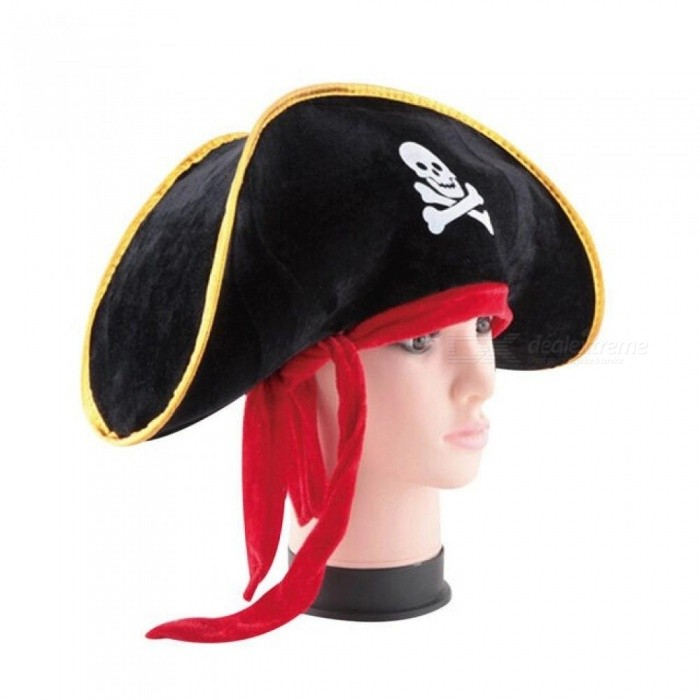 d07946fbeff Halloween Accessories Skull Hat Caribbean Pirate Hat Skull Piracy Cap  Corsair Cap Party Supplies Costume Fancy Dress Party Black - Worldwide Free  Shipping - ...