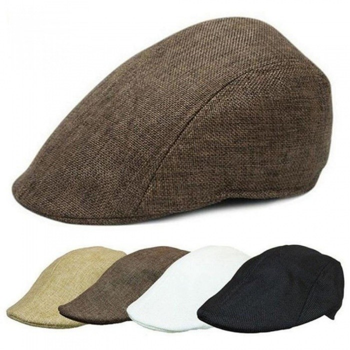 Mens Womens Duckbill Cap Ivy Cap Golf Driving Sun Flat Cabbie Newsboy Hat  Unisex Berets Multi Colors For Optional Grey - Worldwide Free Shipping - DX 883f2474577