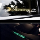 Car Styling Luminous Phone Number Parking Card Stickers for Mazda 3 6 CX-5 Skoda Octavia 2 A7 A5 Rapid Fabia Superb Accessories Gold
