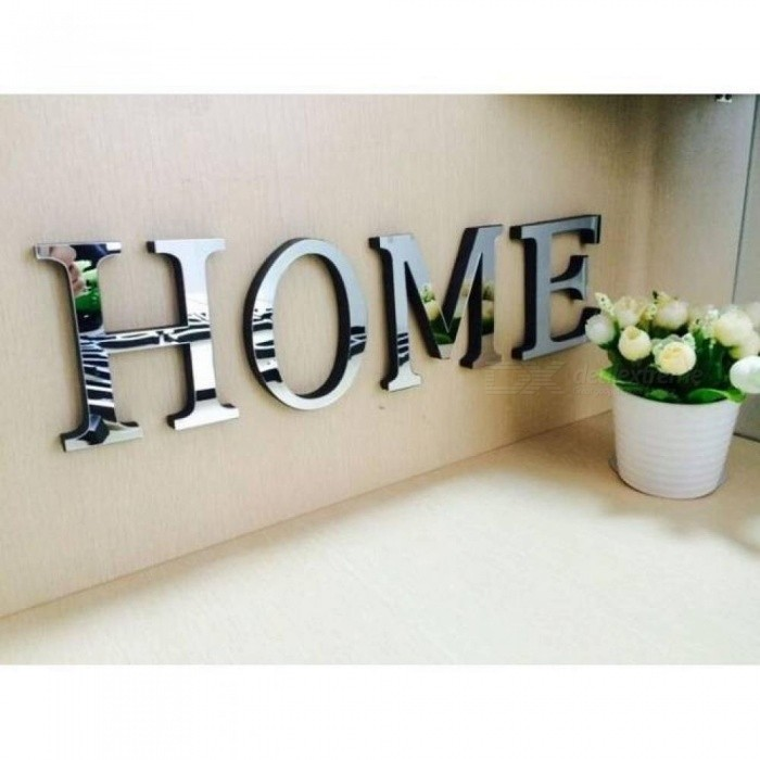 Wedding Love Letters English 3d Mirror Wall Stickers Alphabet Home