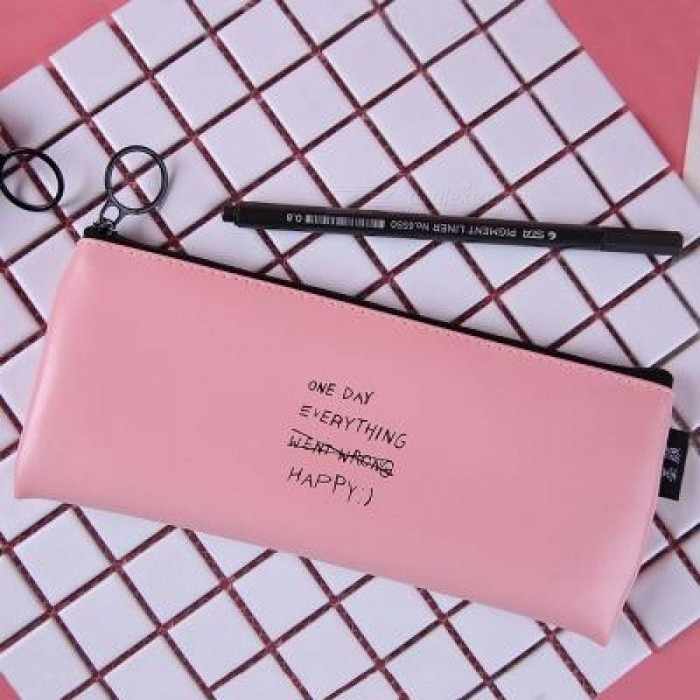 Cute pink pencil case for girls kawaii black white dot pu leather cute pink pencil case for girls kawaii black white dot pu leather pen bag stationery pouch gumiabroncs Images