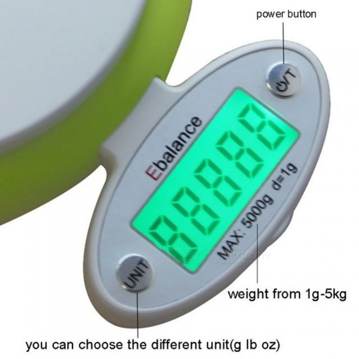 5kg/1g LCD Display Electronic Kitchen Scale Digital Scale Electronic Kitchen Food Diet Postal Scale Weight Tool