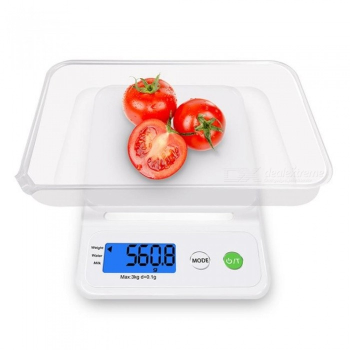 C3 Kitchen Scale Home Accurate Digital Electronic  Balance Plastic Measure Tools Cooking Food Grain LCD Display