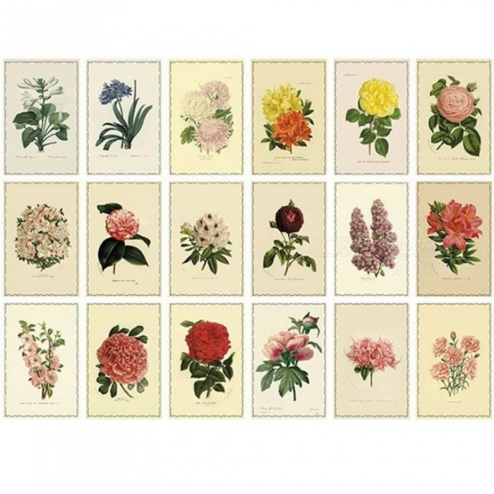 30 pcs/lot Vintage Herbage Plant Postcard Greeting Card Christmas Card Birthday Card Gift Cards Single-Page Type