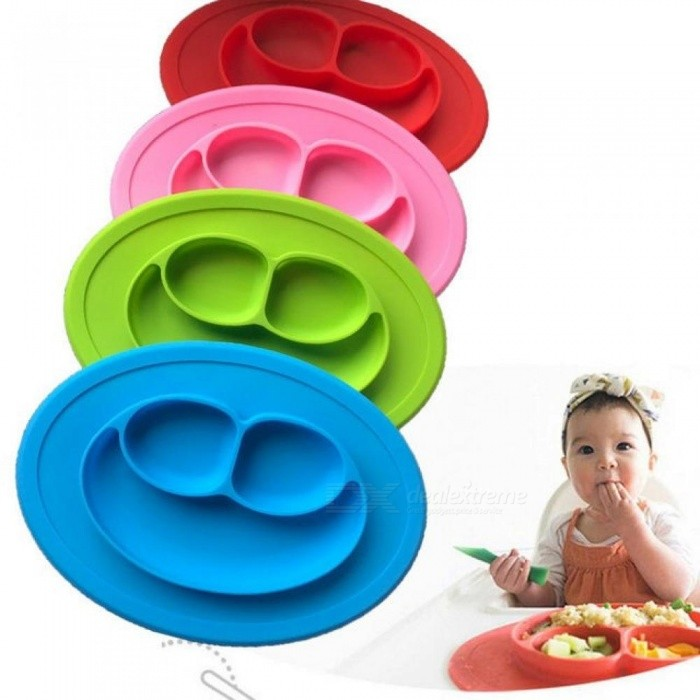Silicone Material Baby Dining Plate Health Lovely Smile Face Lunch Tableware Kitchen Fruit Dishes Children Bowl Green  sc 1 st  DealeXtreme & Silicone Material Baby Dining Plate Health Lovely Smile Face Lunch ...